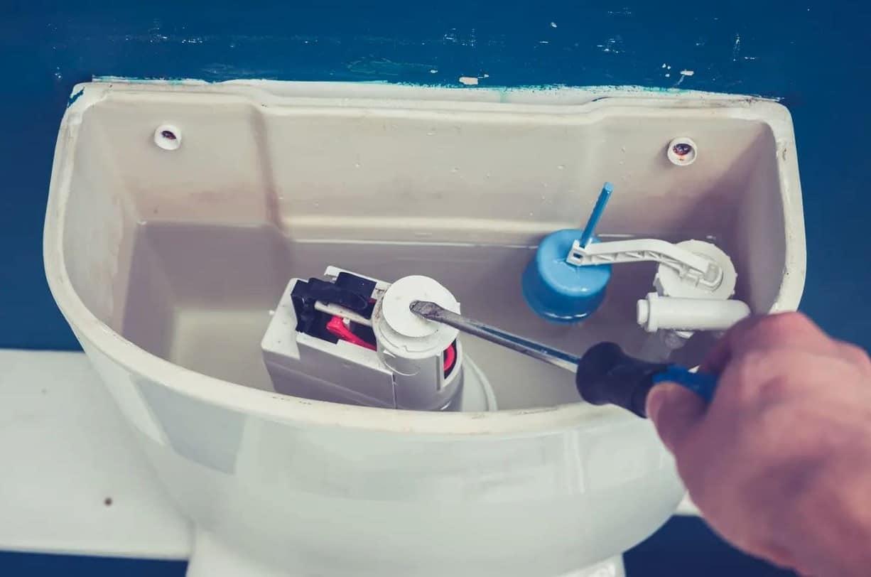 fuit chasse d'eau